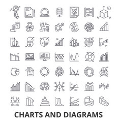 Charts and diagrams diagram element flow chart vector