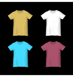 Colorful templates T shirts vector image