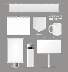 corporate identity empty blank white set vector image