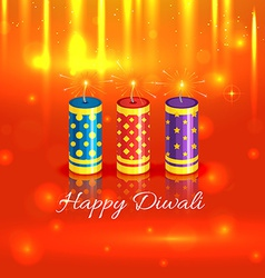 Crackers background of diwali vector image