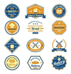 Cupcake Bakery Labels vector image