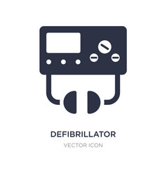 Defibrillator icon on white background simple vector