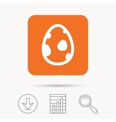 Dinosaur egg icon Birth symbol sign vector