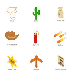 Dispose icons set isometric style vector