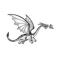 dragon sketch vector image