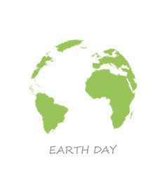 earth day sketch globe white background vector image