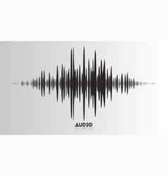 Echo audio wavefrom abstract music waves vector