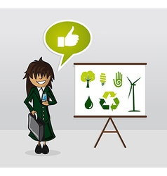 Ecology energy businesswoman vector
