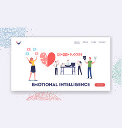 Emotional intelligence landing page template iq vector