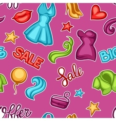 Fashion seamless pattern with female clothing and vector image vector image