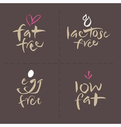 Fat Egg Lactose Food Labels vector image