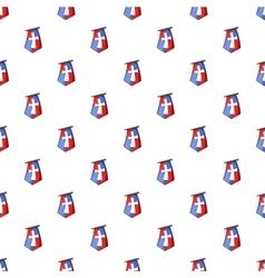Flag of crusaders pattern cartoon style vector image