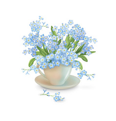 Flowers in the cup vector