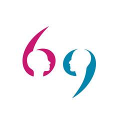 Gender 69 symbol vector