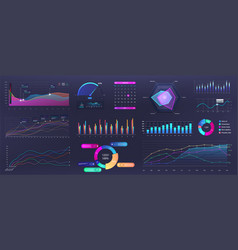 Graphics infographic template dashboard with info vector