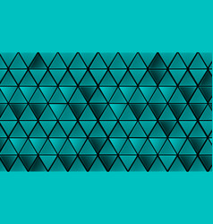 green geometric triangles abstract background vector image
