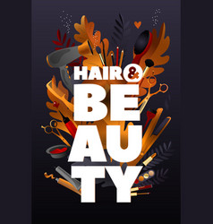 hair and beauty style colorful hairdresser vector image
