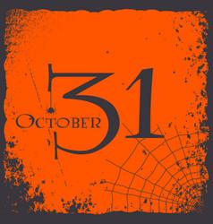 halloween 31 october vintage card logo vector image