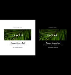 Hawaii and lanikai beach usa surfing paradise vector