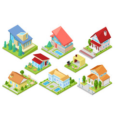 house isometric housing architecture vector image