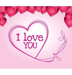I love you colorful graphic vector