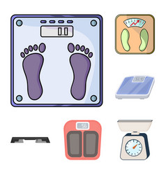 isolated object of weight and lab logo set of vector image