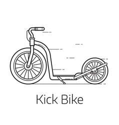 kick scooter thin line vector image