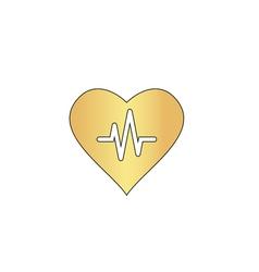 Life line computer symbol vector