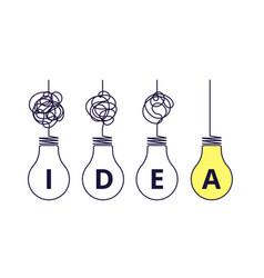 light bulbs idea concept simplify complexity vector image