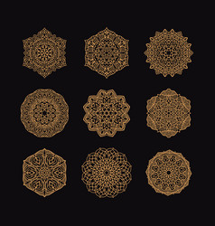 mandala collection set vintage decorative vector image