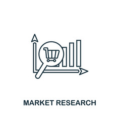 market research icon thin line style symbol from vector image