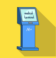 medical terminal terminals single icon in flat vector image