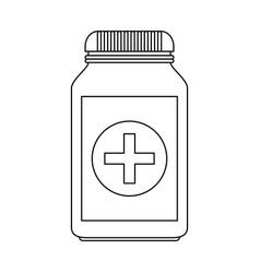 Medication pills healthcare icon image vector