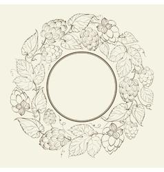 Monochrome circle of fruit hops vector