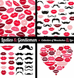 Moustaches set vector