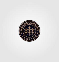 Nature tree company pine logo emblem design vector