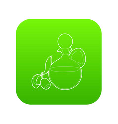 olive oil icon green vector image