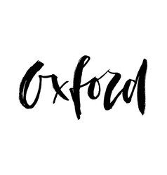 oxford city rough logo or typography lettering for vector image