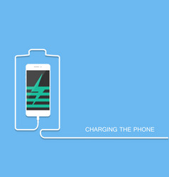 phone charging with energy bank smarthone with li vector image