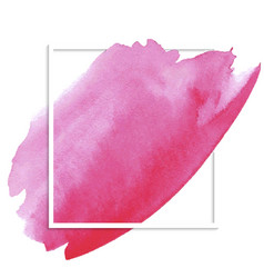 Pink watercolor banner vector
