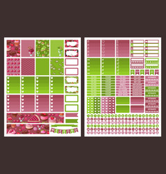 Planner stickers vector