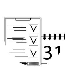 Planning icon app vector