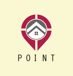 point location home logo vector image