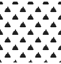 Poop pattern simple style vector image