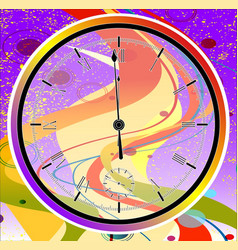 Purple jazz midnight clock vector