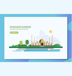 ramadan kareem islamic flat vector image