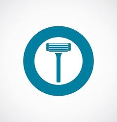 Razor icon bold blue circle border vector