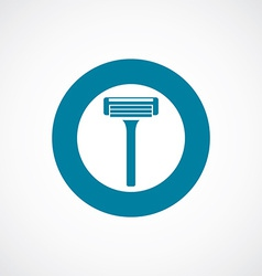 razor icon bold blue circle border vector image