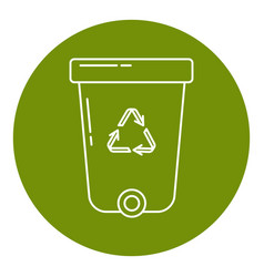 recycle bin icon in thin line style vector image