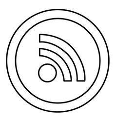 Round symbol wifi connection icon vector